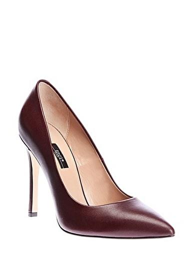 İnci İnci Kadın Deri  Topuklu Ayakkabı Kırmızı